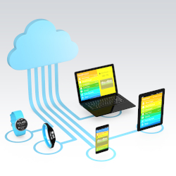 Cloud computing technology concept for healthcare .